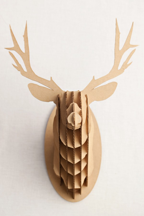 Cardboard creatures the adventure store - Cardboard stag head ...